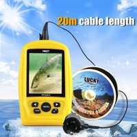 Cámara de caza buscador de peces más profundo 3,5 pulgadas LCD Cámara subacuática Sistema de Inspección de pesca CMD sensor RGB Monitor impermeable 20 M