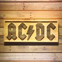 ACDC AC/CD banda cerveza 3D de Bar de madera signos
