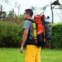 Mochila de senderismo resistente al agua con engranaje 3F UL Paquete de Camping ligero para montañismo de viaje mochila de senderismo 40 + 16L