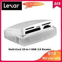 100% Original Lexar multitarjeta 25 en 1 SuperSpeed USB 3,0 lector de tarjetas de tecnología para CF SD TF XD M2 velocidad hasta 500 MB/S