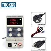 Precisión reguladores de tensión KPS305D 30 V 5A laboratorio DC fuente de alimentación 0,1 V 0.01A doble pantalla LED interruptor DC fuente de alimentación