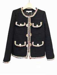 2018 Otoño Invierno Vintage Tweed chaquetas mujeres corto lana blanco abrigos mujeres coreano Streetwear Delgado abrigo rompevientos