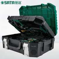 SATA 88 unids Caja de Herramientas eléctrica para el hogar, kit de reparación de carpintería para electricista multiusos, taladro manual 05152
