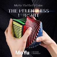 MOYU 15 couches MoYu 15x15x15 Cube vitesse magique Puzzle 15x15 éducatifs Cubo magico jouets (120mm) en Promotion