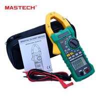 MASTECH MS2015A rango automático Digital ACCurrent pinza medidor AC 1000A verdadero RMS multímetro frecuencia capacitancia NCV de detectio