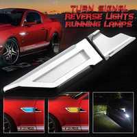 LED Switchback luz lado marcador lámparas de señal + DRL + aparcamiento marcha atrás luces Blanco/ámbar/coche azul auto Fender lámparas Universal