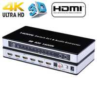 2019 HDMI commutateur commutateur 5x1 HDMI Audio extracteur 4 K x 2 K 3D ARC Audio EDID réglage HDMI 1.4 v HDMI commutateur à distance pour PS4 Apple TV