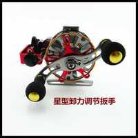 Pez de metal carrete BA60 relación carrete balsa velocidad automático cable mosca carretes de pesca de metal carrete