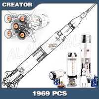 1969 pièces Apollo Saturn V espace lancement véhicule USA fusée Figure blocs de construction assembler enfants garçons jouet Compatible