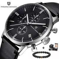Reloj de pulsera militar deportivo de cuarzo con diseño cronógrafo de lujo de marca superior para hombre