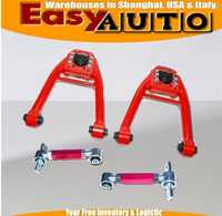 Front Upper camber kit rear camber kit ADJ. rojo para Honda civc 96 97 98 99 00 ek