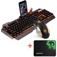 Retroiluminación LED USB Wired ergonómico Gaming teclado USB con cable ratón + Ratón A30