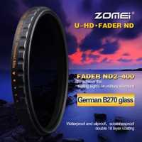 Respectivamente 52/58/67/72/77/82mm Ultra Slim Multi-revestido 18 capas HD MC ND2-400 Fader Variable ND filtro para DSLR SLR Cámara