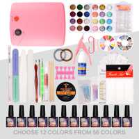 Kit de uñas secador de 36 W UV lámpara LED y de Gel UV barniz polaco gel UV herramienta de la manicura elegir 12 colores esmalte de uñas para uñas conjuntos