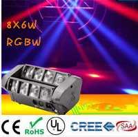 Lumière principale mobile Mini araignée de LED 8x6 W RGBW lumière de faisceau bonne qualité expédition rapide