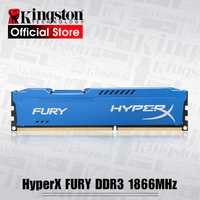 Kingston RAMS HyperX FURY, serie en azul memoria de escritorio DDR3 240-Pin 1866 MHz 8 GB