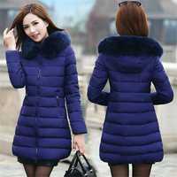 Mujeres Parkas invierno casuales de las chaquetas Mujer invierno mujeres algodón con capucha Parkas abrigo caliente Outwear