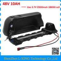 500 W 48 V 10AH abajo tubo ebike batería de litio de 48 V 18650 batería de bicicleta paquete con 5 V 1A puerto USB 15A BMS 54,6 V 2A cargador