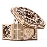 En bois 3D Puzzle jouet bijoux à bricoler soi-même boîte mécanique Transmission modèle stockage pour bijoux assemblé Puzzle jouets cadeau pour dame filles