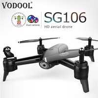 VODOOL SG106 RC Drone 22 min Flytime 720 P/1080 P HD Cámara Dual FPV WiFi 3D Rolling gesto RC helicóptero Quadcopter Dron