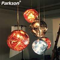 Tom DIXON Lava colgante bola de cristal Lghts sombra lámpara creativa espejo colgar moderno colgante lámpara de techo LED nórdica colgante plateado