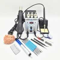 220 V/110 V 700W Station de soudure 8586 2 en 1 SMD Station de reprise pistolet à Air chaud + fer à souder électrique pour le soudage kit d'outils de réparation