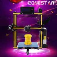 Zonestar más 3D impresora 3D DIY kit de impresora 3d impresora de tarjeta SD I3 Dual o Color mixto de Metal completo marco de aluminio