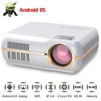 Todo el mundo ganar A10 proyector Led 4200 lúmenes HD Teatro Oficina proyector soporte 1080 p con HDMI VGA AV USB puertos proyector