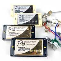 1 Unidades juego de Pickups de guitarra eléctrica Alnico ProBucker estándar LP cromado con arnés de cableado profesional para cubierta de oro plateado de epinefrina