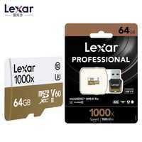 Lexar 150 MB/S 1000x TF 64 GB 128g de memoria sd micro/tarjetas TF 32 GB USB 3,0 lector UHS-II drone Gopro héroe videocámara deporte