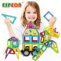 79 Uds. Bloques de construcción magnéticos de tamaño grande, juego de bloques de construcción magnéticos, juguetes educativos, bloques magnéticos, juego de juguetes de apilamiento, rompecabezas 3D