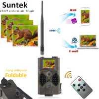 12MP foto trampas Correo electrónico MMS GSM 1080 p visión nocturna de caza de trampas HC300M salvaje caza Cámara del rastro de Vida Silvestre de la cámara chasse
