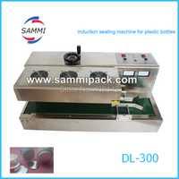 Inducción automática máquina de sellado sellador de inducción continua para diferentes diámetro tapa 20-50mm o 50-120mm