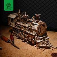 Robud 4 sortes bricolage 3D jeu de Puzzle en bois découpe Laser modèle mécanique assemblage jouet cadeau pour garçon et filles LK pour livraison directe