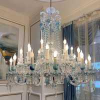 Contemporáneo de cristal LED luces de la lámpara de cristal de Baccarat gota iluminación hotel de lujo habitación villa loft, luces de la lámpara