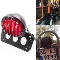 Aftermarket piezas libres del motor del envío LED hierro Montaje Lateral etiqueta Marcos de matrícula soporte LED luz trasera para Harley Softail BK