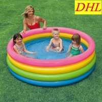 Piscina inflable piscina de agua al aire libre parque tomar el sol de fluorescencia tetraciclina círculo bañera boya de vida del Partido de mar piscina L1889