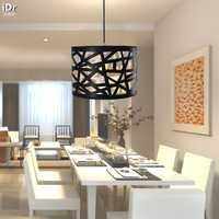 Moderno minimalista restaurante bar estudio de una sola cabeza pantalla negro personalidad creativa lámparas de nido Lámparas colgantes wwy-0060