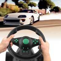 180 grados de rotación de vibración volante de carreras con pedales para XBOX 360 para PS2 para PS3 PC de coche USB volante
