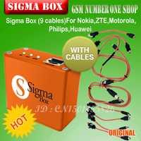 Gsmjustoncct Sigma Box caja de desbloqueo y reparación + 9 cables china de software móvil para Motorola y el otro teléfono p15