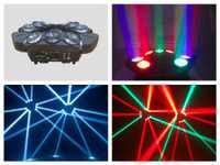 4 unids/lote, nuevo mini rgbw 9x10 W LED araña cabeza móvil luces LED disco China Club party DJ etapa bar boda