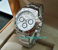 Reloj de cuarzo multifunción para hombre con movimiento de cuarzo japonés PARNIS de 39mm de cristal de zafiro 5Bar pa25