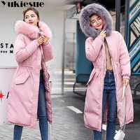 Largo grueso cálido mujer chaqueta de invierno cálido chaqueta de las mujeres chaqueta de invierno de mujeres wadded abajo abrigo chaqueta mujer abrigo