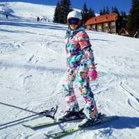 Traje de esquí traje de las mujeres chaqueta de snowboard + doble pantalones de esquí 2018 nuevo a prueba de viento impermeable chaqueta de invierno envío gratis