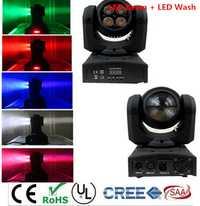 Mini doble lados LED Mini cabeza móvil Luz de lavado 4x10 W RGBW 4in1 LEDs 12 W RGBW haz cabeza móvil iluminación interior fiesta Disco