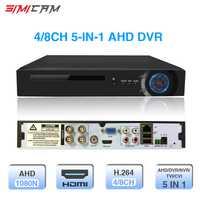 Grabadora de Video 4ch 8ch 1080N CCTV DVR 5 en 1 híbrido DVR NVR H.264 para AHD cámara analógica cámara IP cámara del CCTV SISTEMA DE P2P
