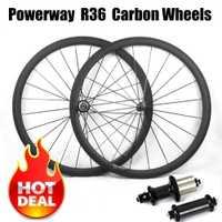 Súper luz de bicicleta de ruedas 700C 23/25mm ancho 38mm 50mm 60mm 88mm R36 cubo de bicicleta de carretera de basalto de superficie ruedas de carbono