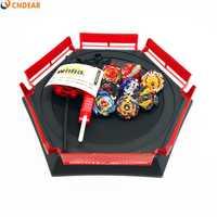 Beybladeing explosión hoja juguetes Arena estadio de Funsion 4D Bayblade girando superior con lanzador y Arena toys004