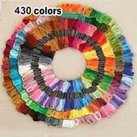 430 colores de poliéster bordado Cruz hilo patrón Kit bordado seda de coser de seda FP8