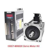 ¡1.5KW 220 V AC Servo Motor 130ST-M06025 fase única 2500 rpm 6N! m CNC Motor coincidentes conducir con 3 M Cable codificador